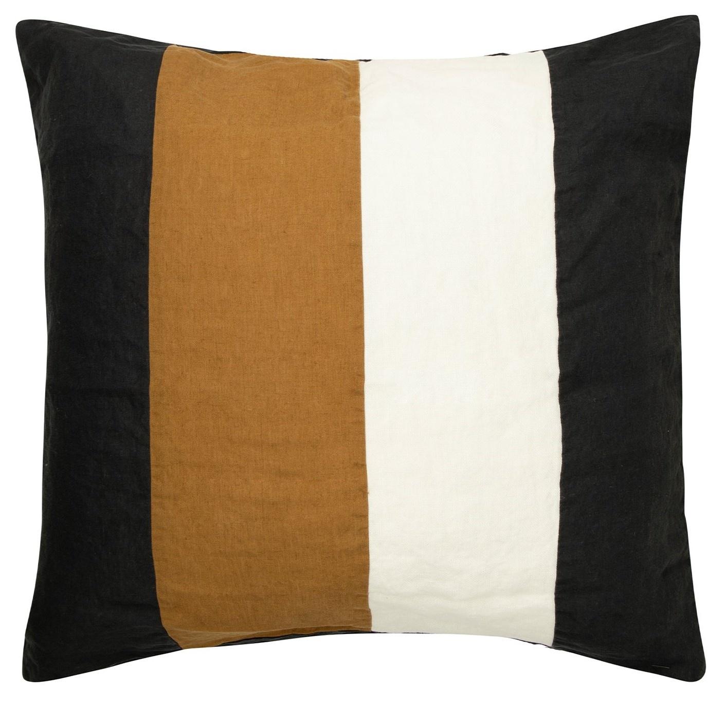Kussenhoes Linen pillow square zwart-1