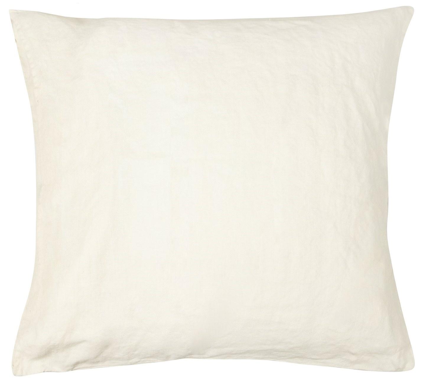 Kussenhoes Linen pillow square winter white-2