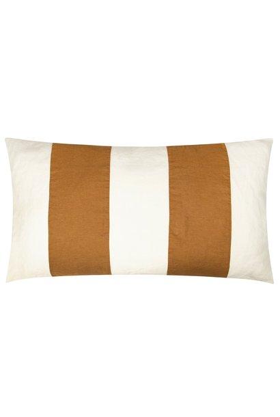 Kussenhoes Linen pillow long winter white