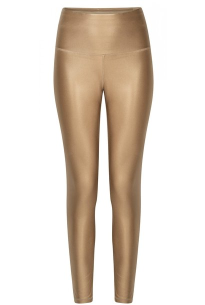 Legging yoga shiny gold