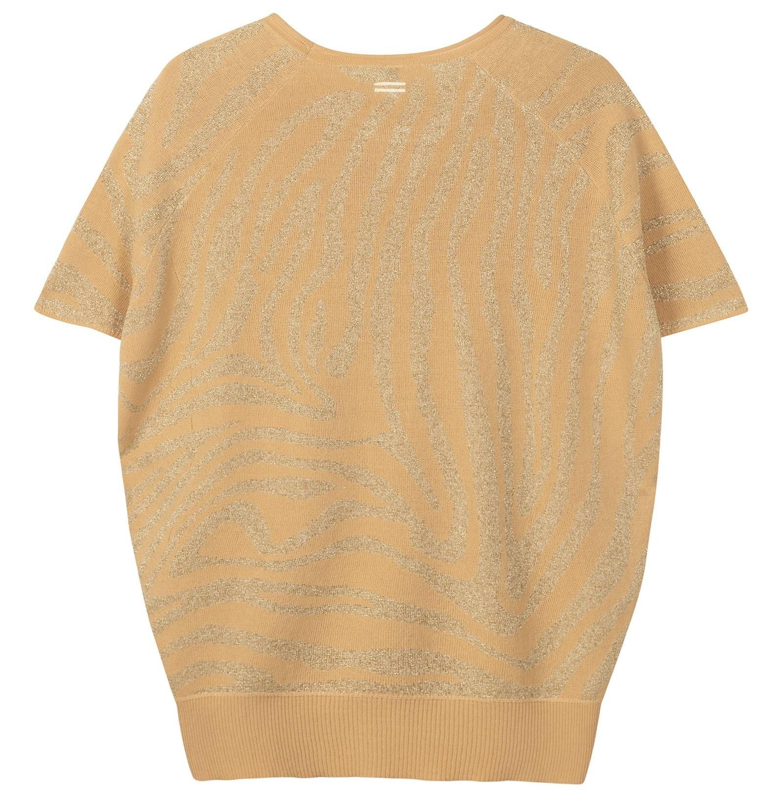 Trui top lurex zebra soft beige-5