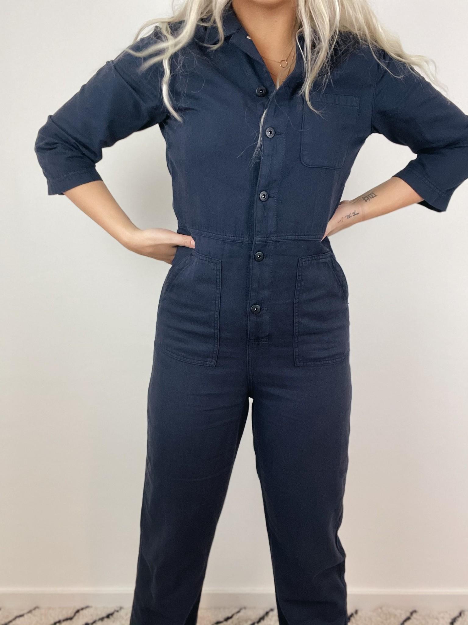 Jumpsuit Emma suit vintage blue-5