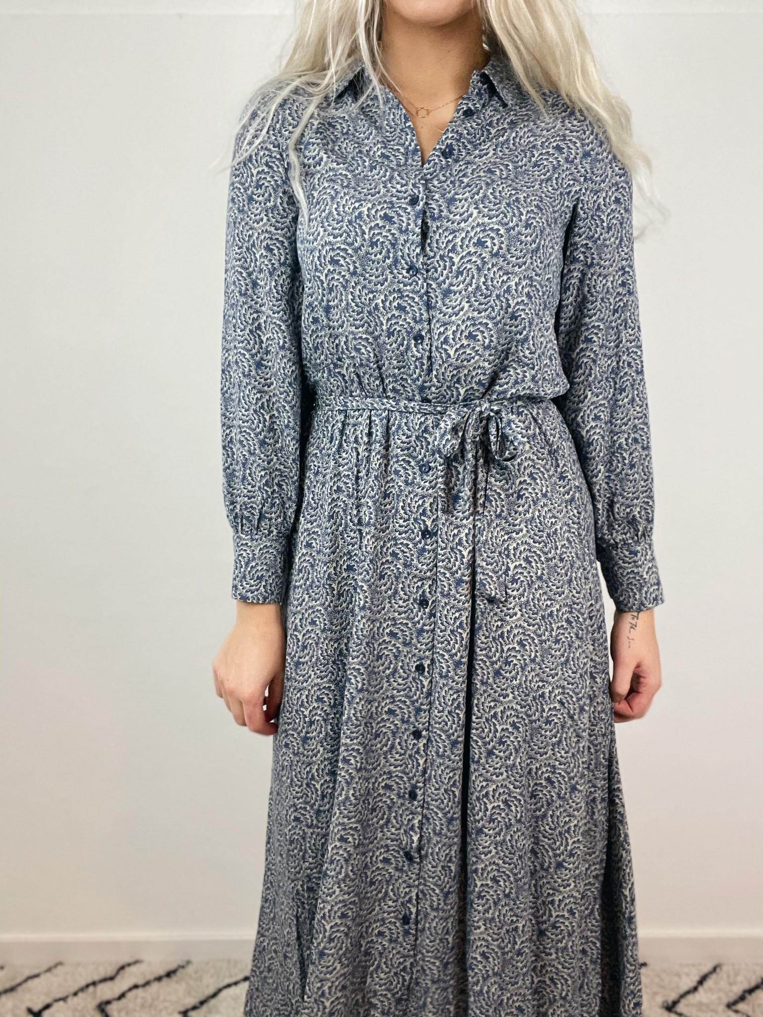 Jurk Yara botanic dress blue-5