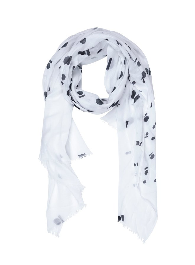 Sjaal Scarf medal white