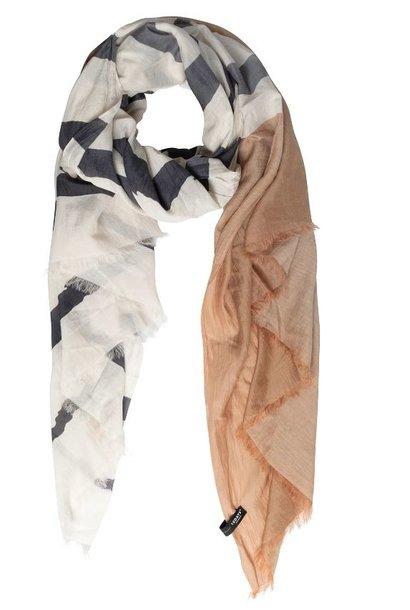 Sjaal  Scarf stripe caramel