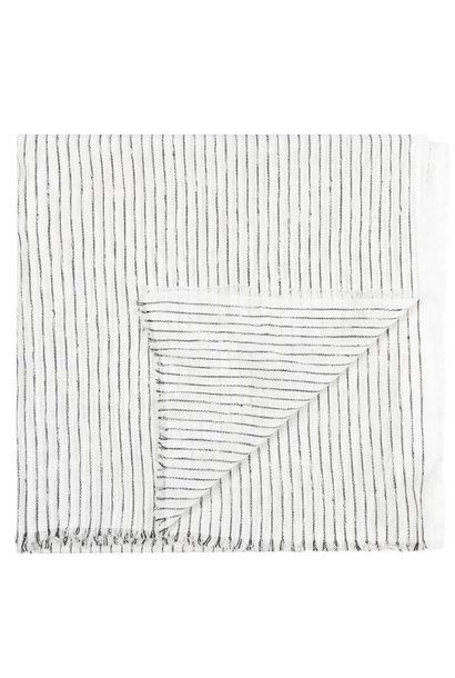 Sjaal Scarf stripes white