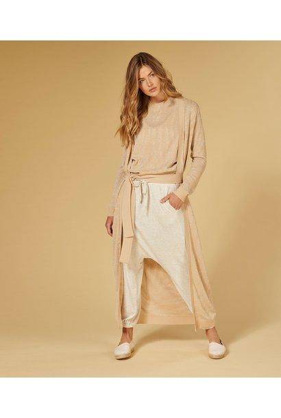 Broek Soft suave pants soft white melee