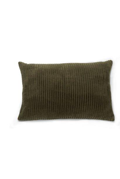 Kussen Retro ribcord fir green