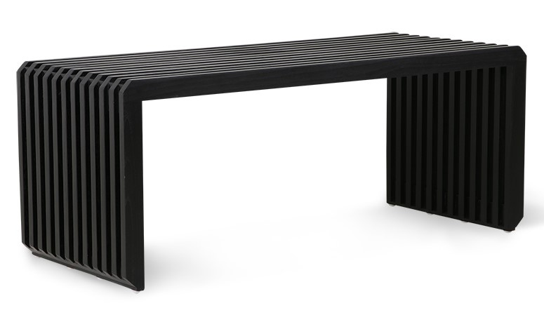 Bank slatted bench/element black-3
