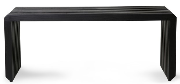 Bank slatted bench/element black-5