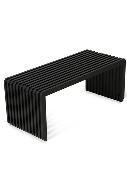 Bank slatted bench/element black