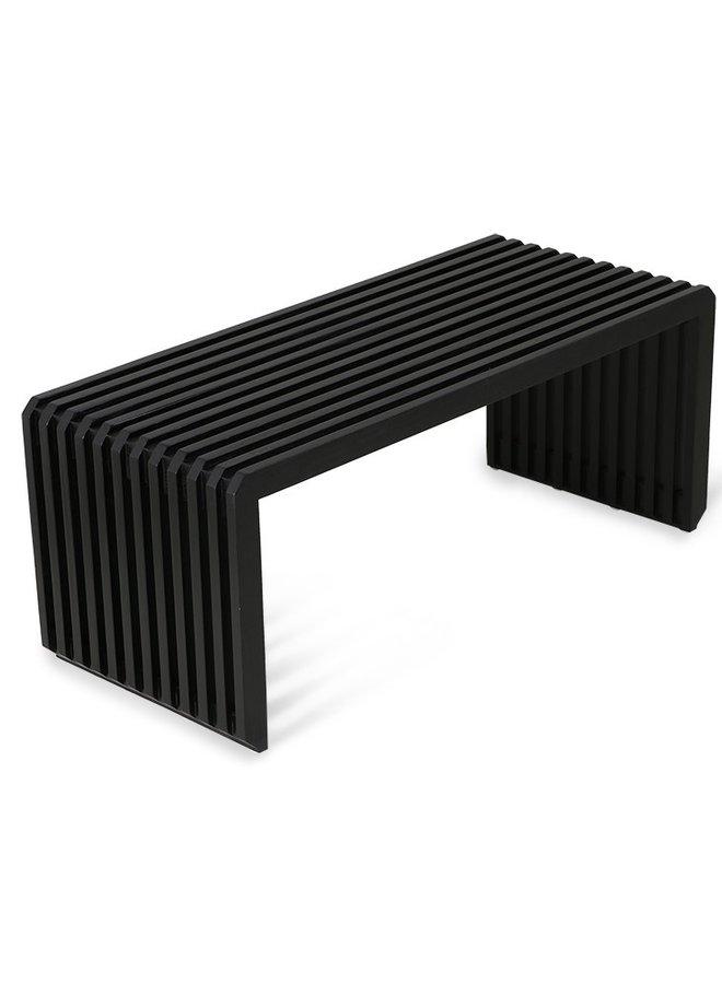 Bank slatted bench/element black