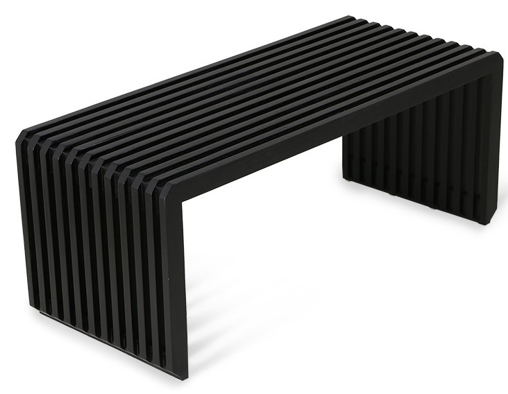 Bank slatted bench/element black-1