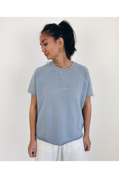 Sweater Sleeveless logo grey blue