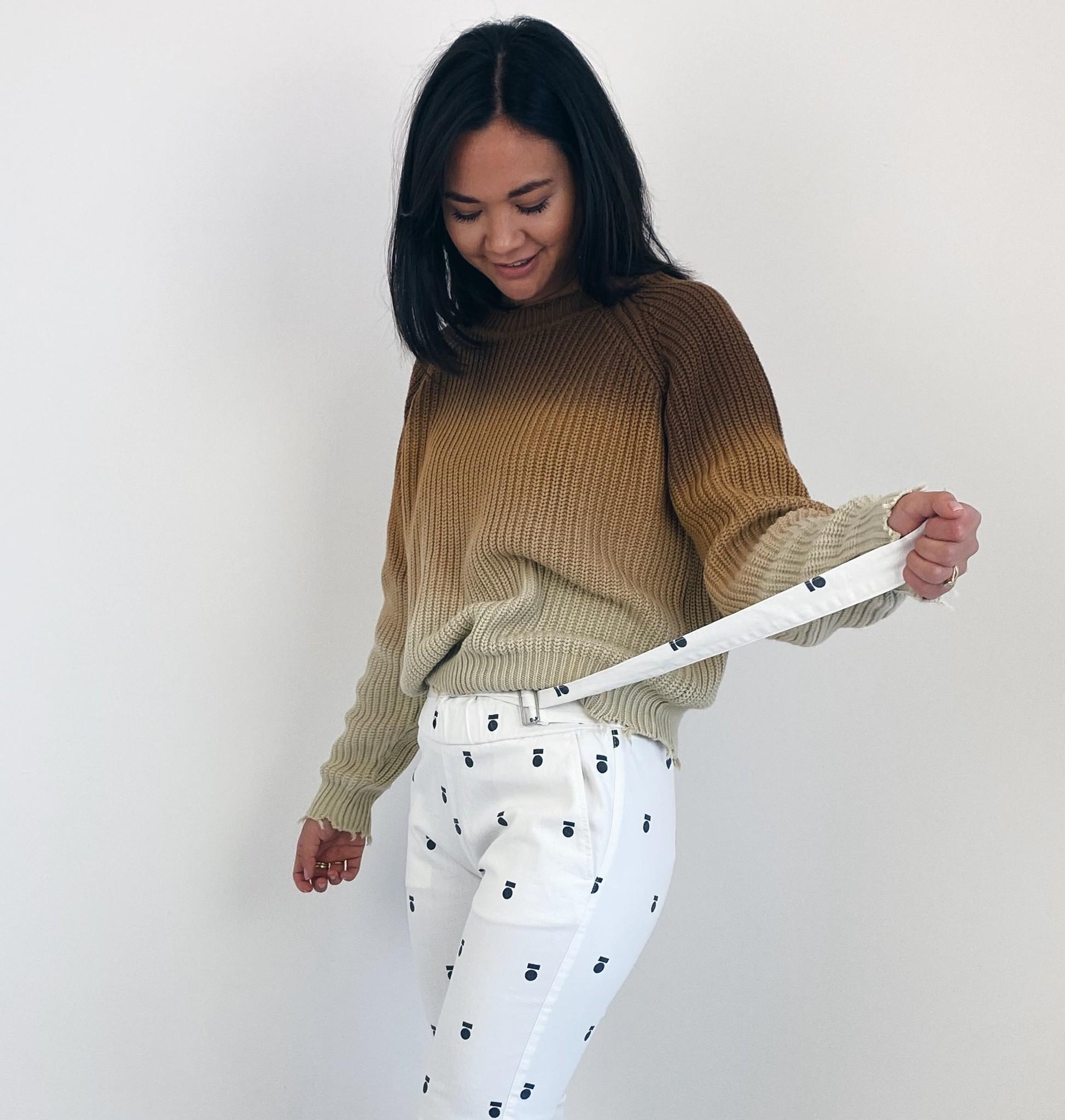 Trui sweater degrade dark caramel-2