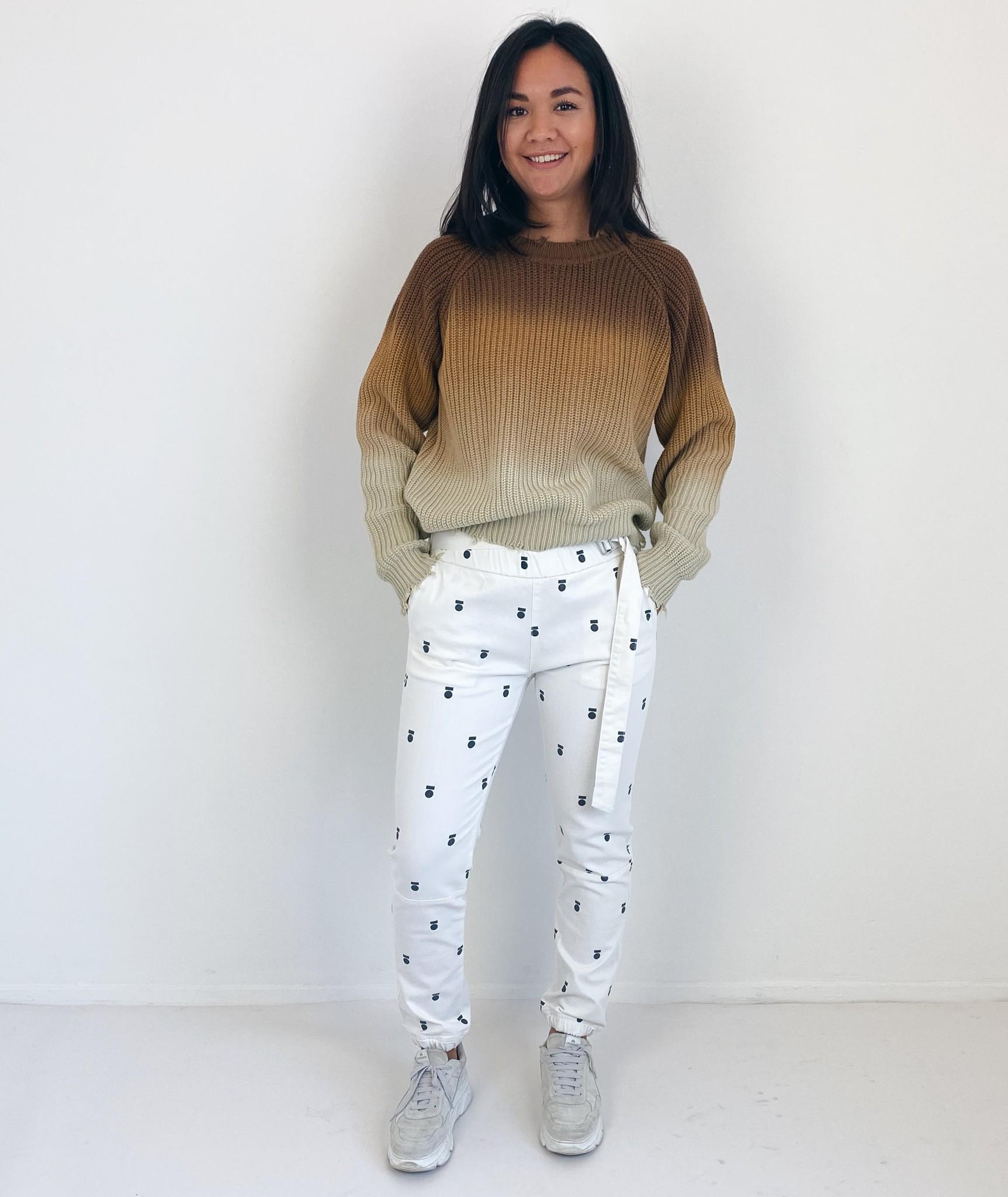 Trui sweater degrade dark caramel-5