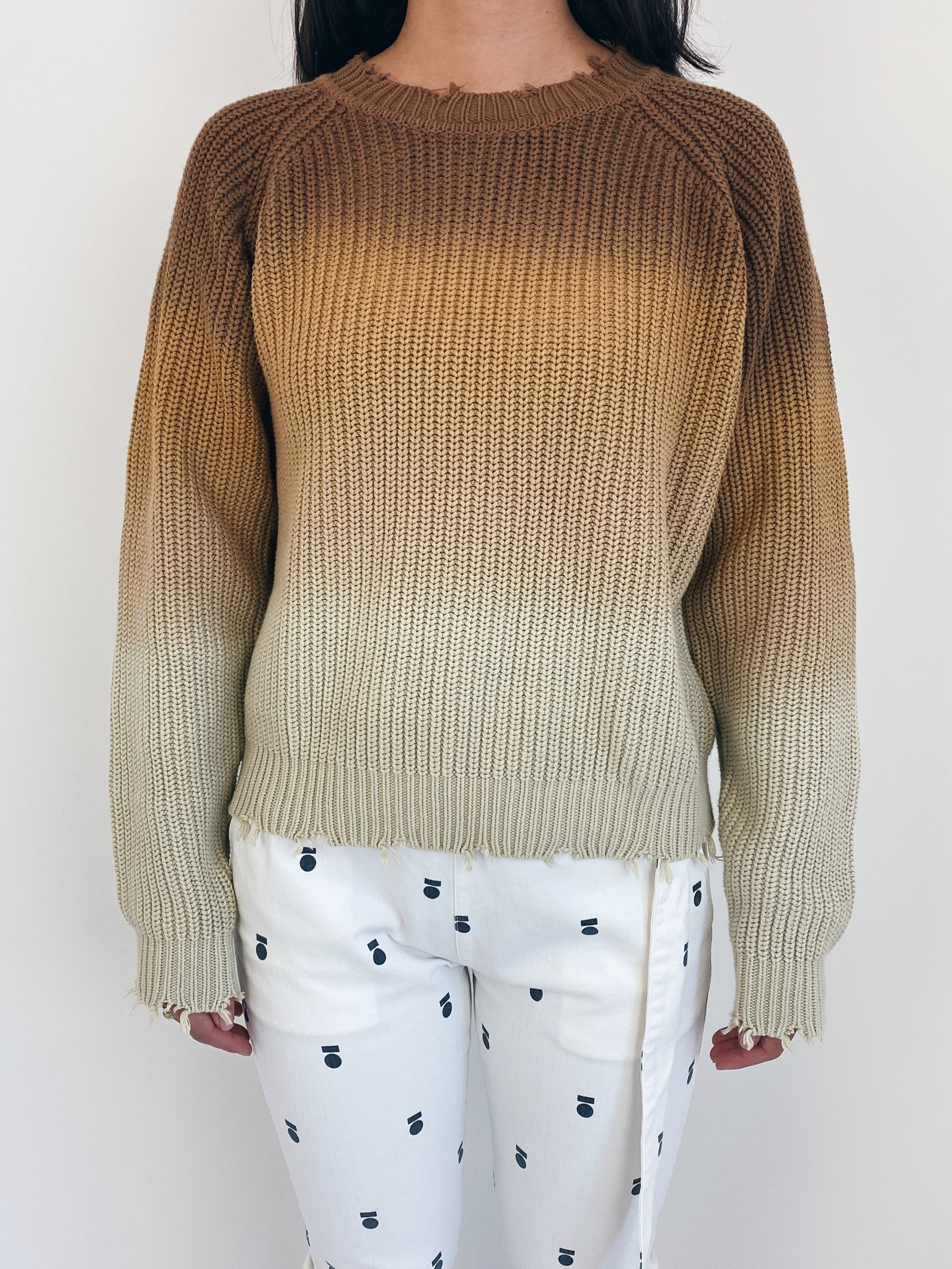 Trui sweater degrade dark caramel-6