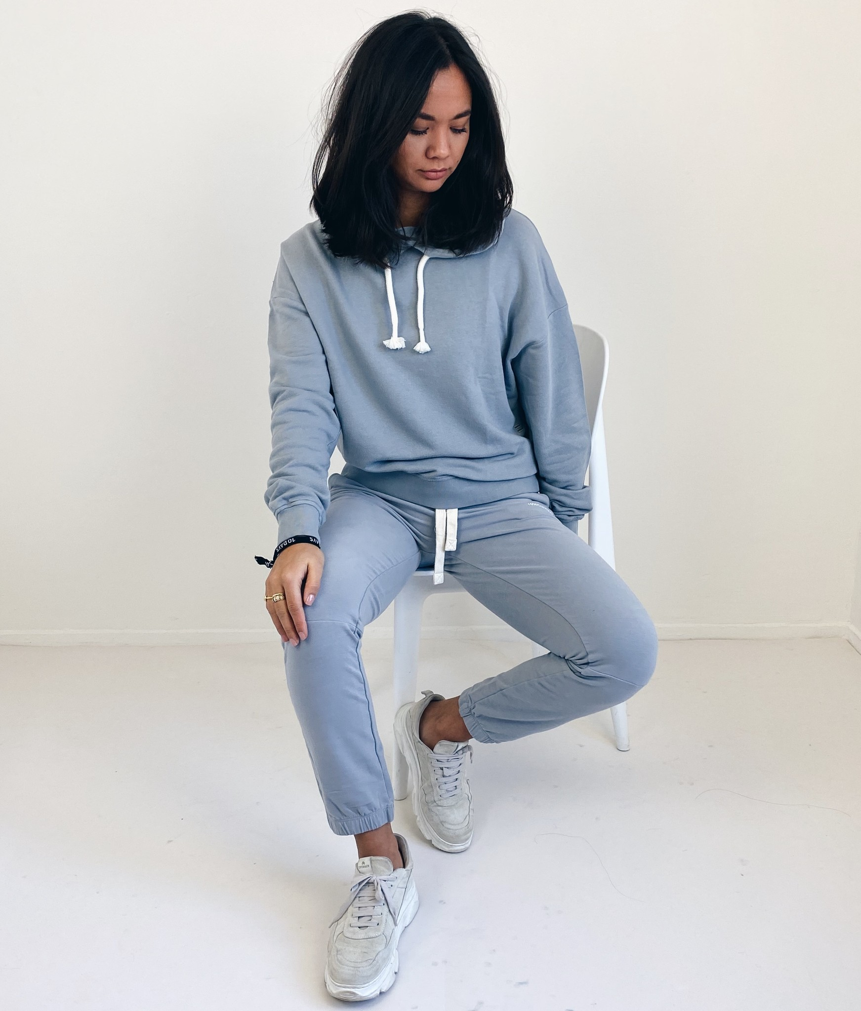 Broek cropped jogger faded grey blue-4