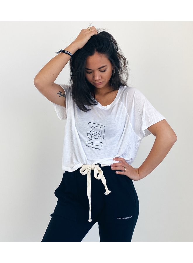 T-shirt shortsleeve tee sketch white