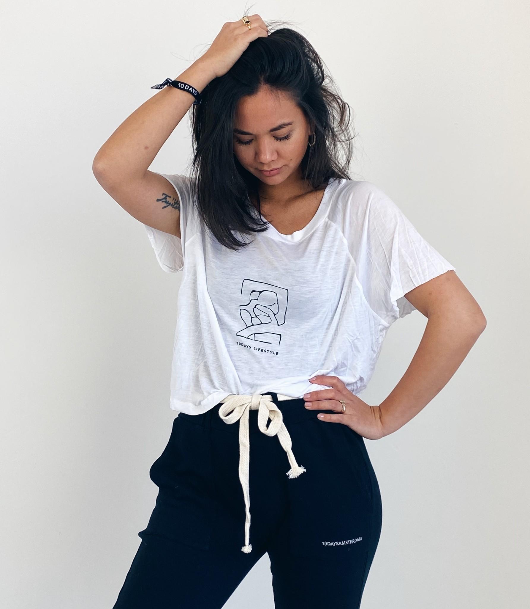 T-shirt shortsleeve tee sketch white-1