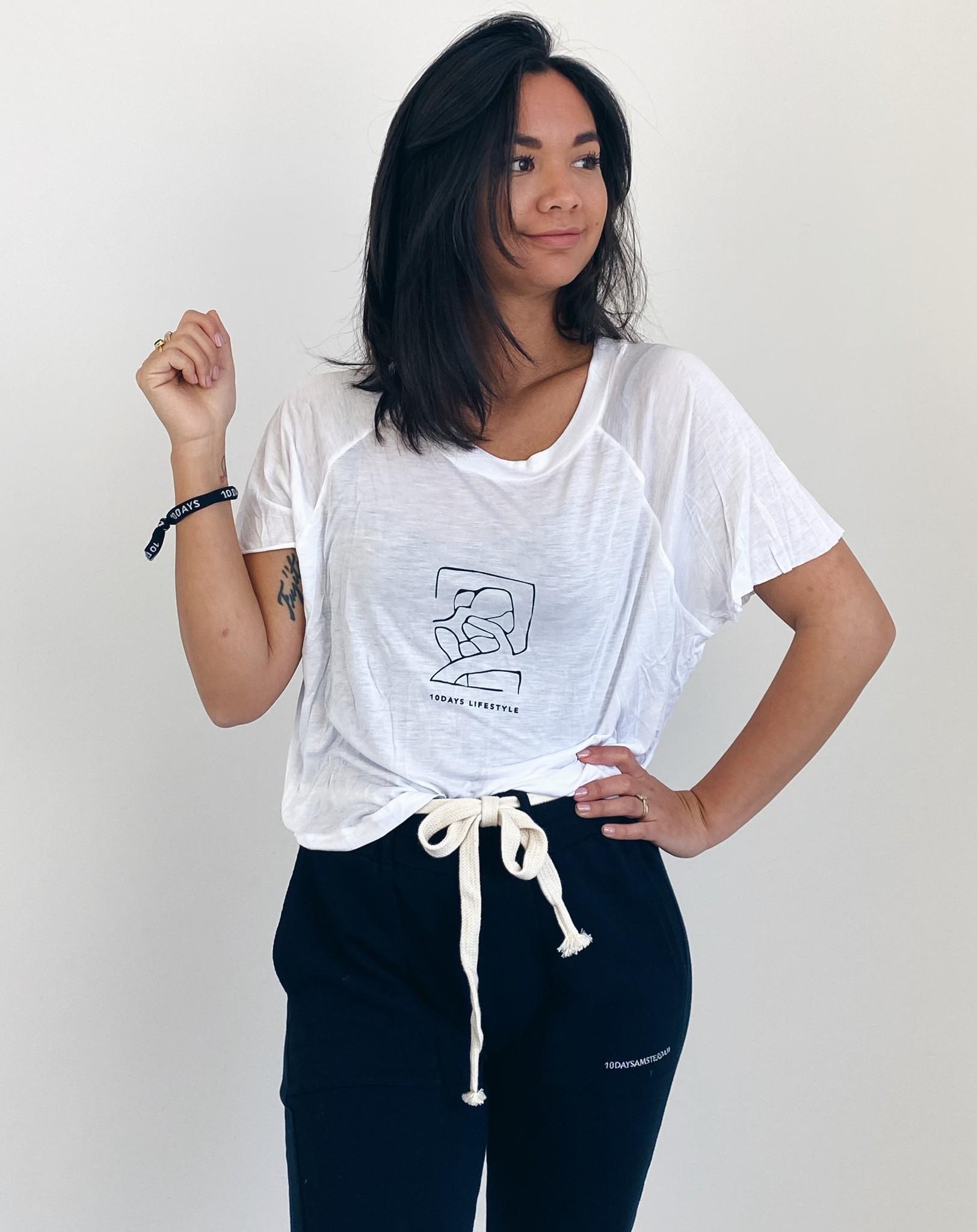 T-shirt shortsleeve tee sketch white-5