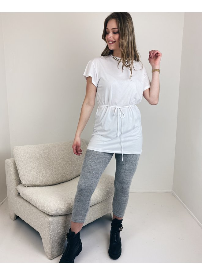 T-shirt long Vegiflower blanc