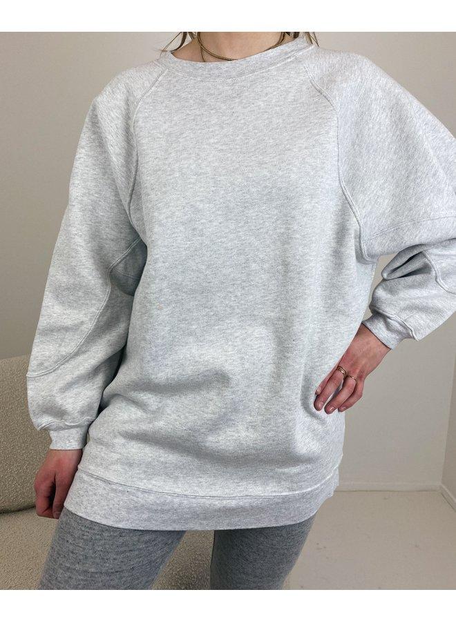 Sweater long Baetown gris clair chine