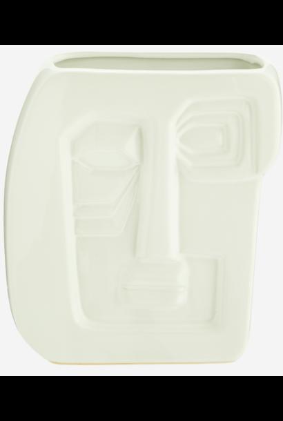 Vaas face imprint 16x7x20 cm White