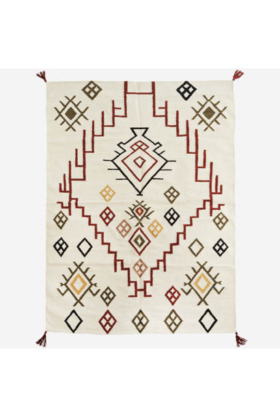 Wandkleed Handwoven cotton rug 120x180cm