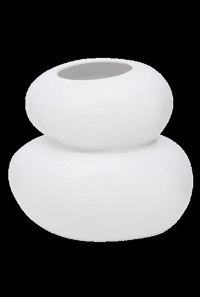 Vaas vase Pebbles white
