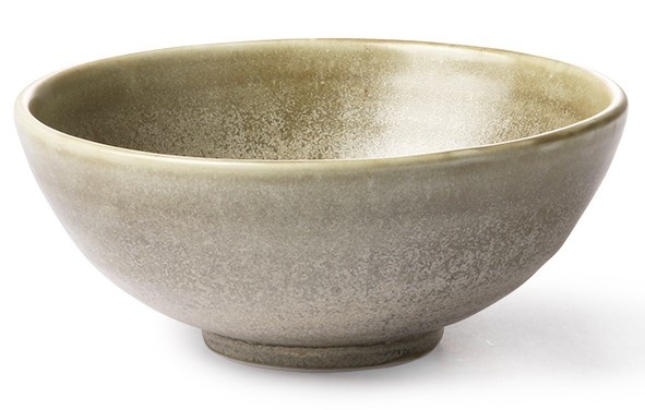 Kom home chef ceramics salad bowl rustic green/grey-1
