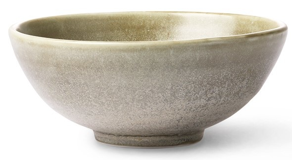 Kom home chef ceramics salad bowl rustic green/grey-3