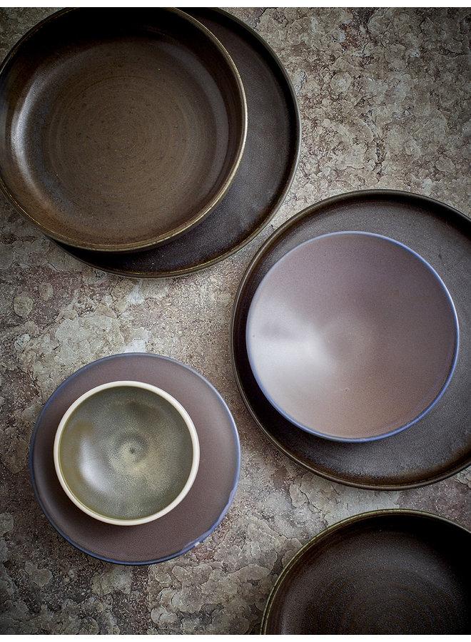 Kom home chef ceramics bowl white/green