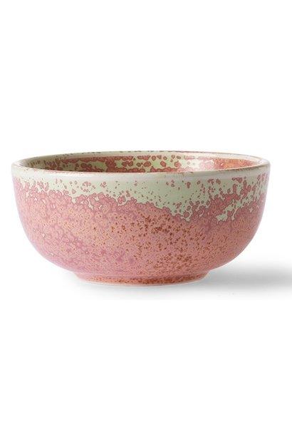 Kom home chef ceramics bowl rustic pink