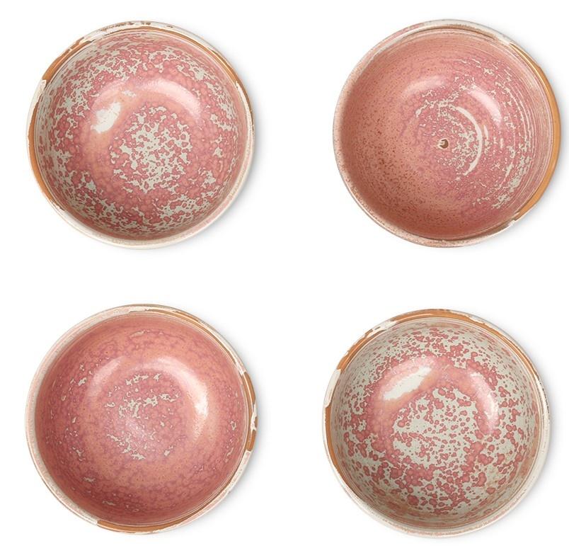Kom home chef ceramics bowl rustic pink-5