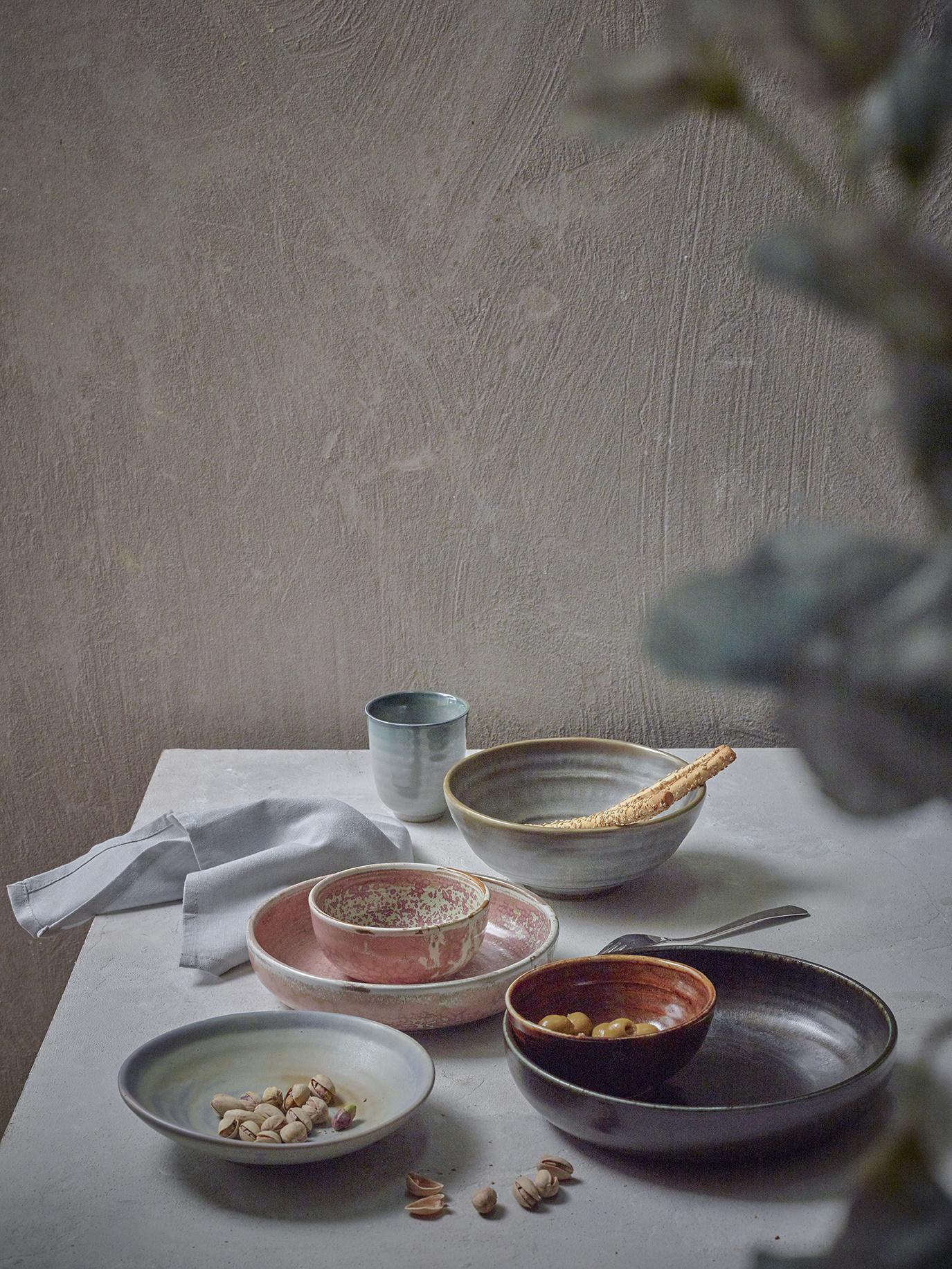 Kom home chef ceramics bowl rustic pink-2