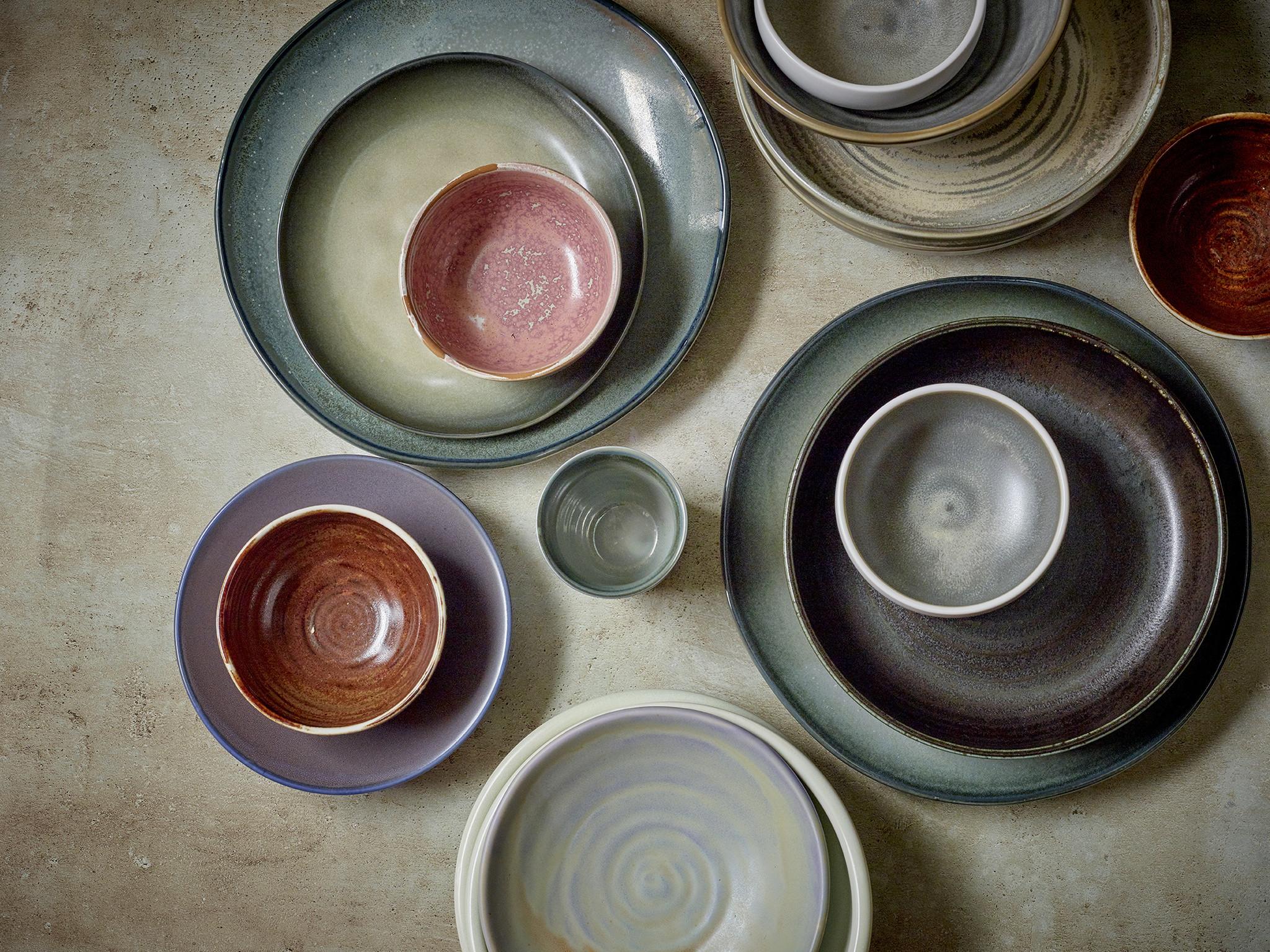 Kom home chef ceramics bowl rustic pink-4