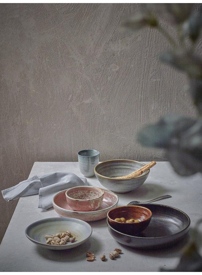 Bord home chef ceramics deep plate rustic pink