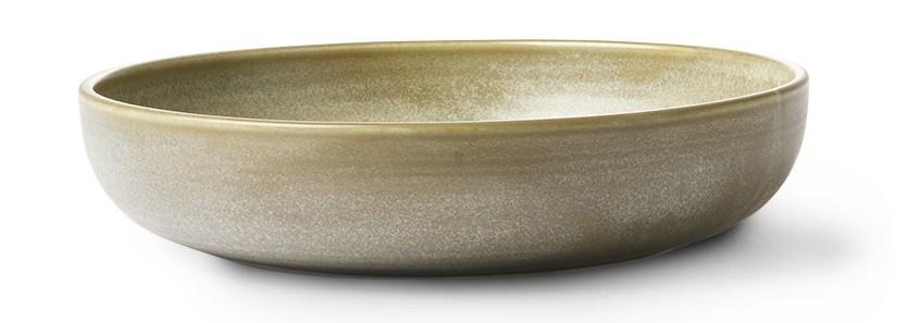 Bord home chef ceramics deep plate rustic green/grey-2