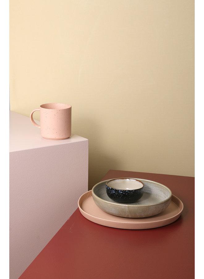 Bord home chef ceramics deep plate rustic green/grey