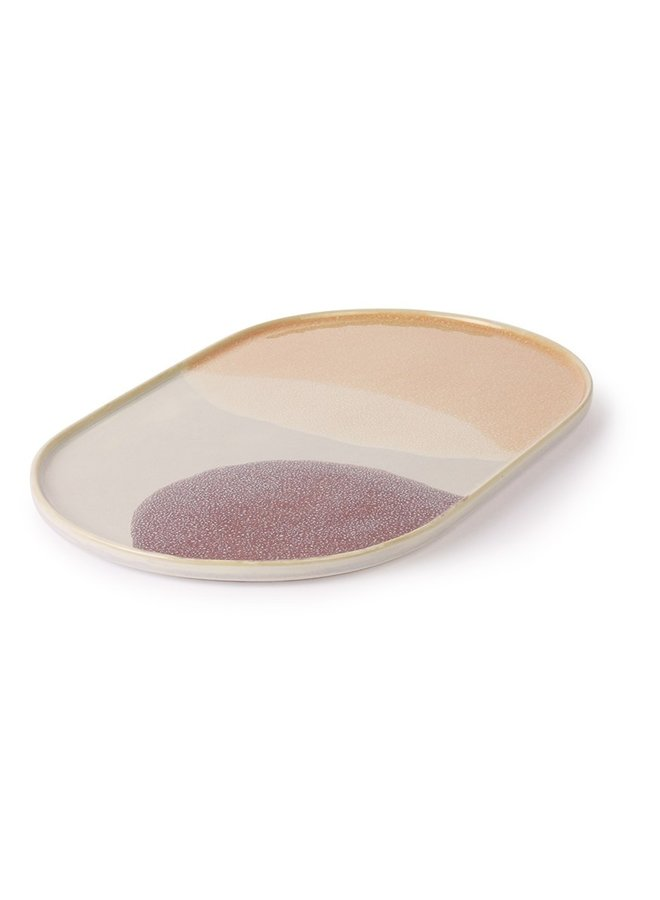 Bord gallery ceramics oval dinner plate pink/lilac