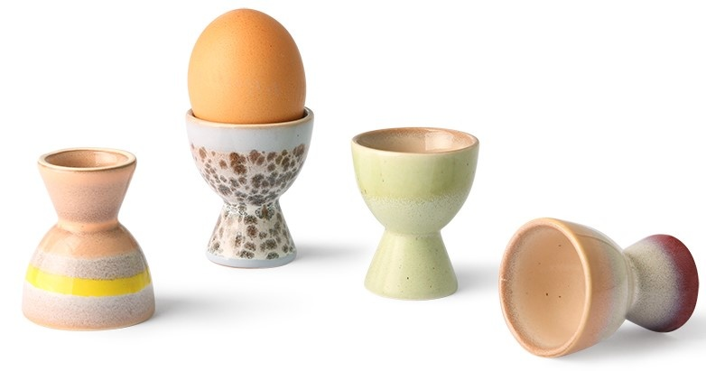 Eierdop 70s ceramics egg cups (set of 4)-3