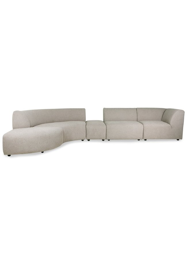 Bank jax couch: element right corner, ted, stone