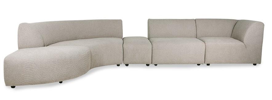 Hocker jax couch: element hocker small, ted, stone-4
