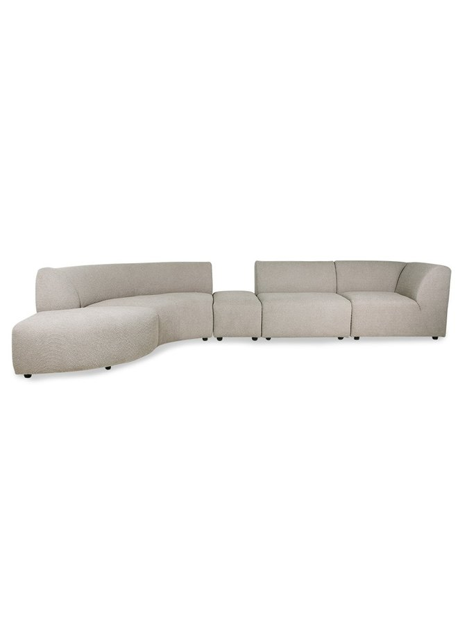 Bank jax couch: element left corner, ted, stone