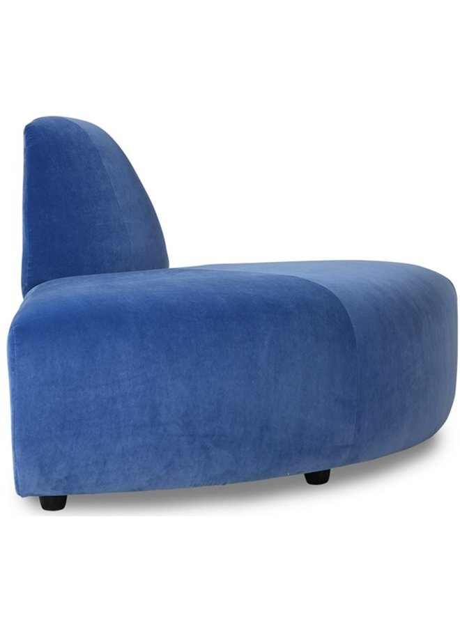 Bank jax couch: element angle, royal velvet, blue