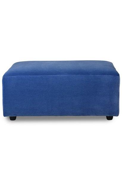 Hocker jax couch: element hocker, royal velvet, blue