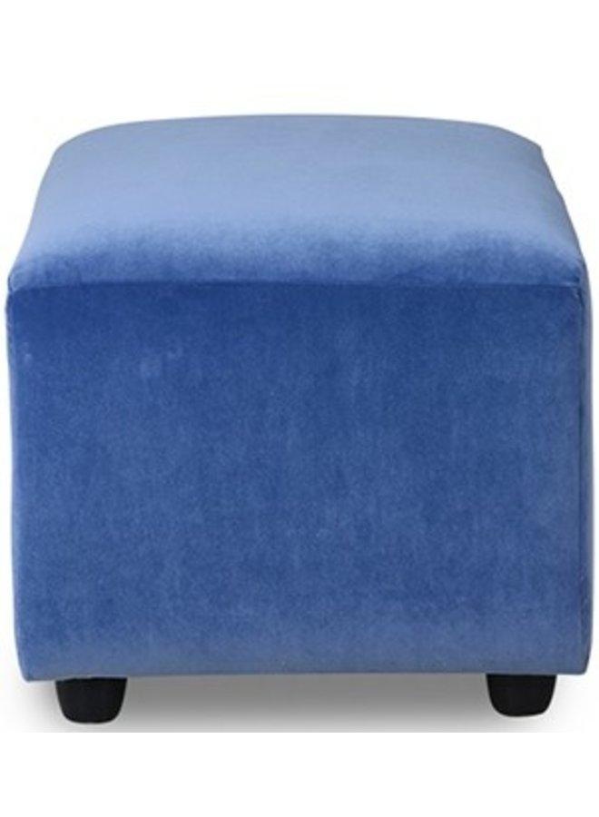 Hocker jax couch: element hocker small, royal velvet, blue