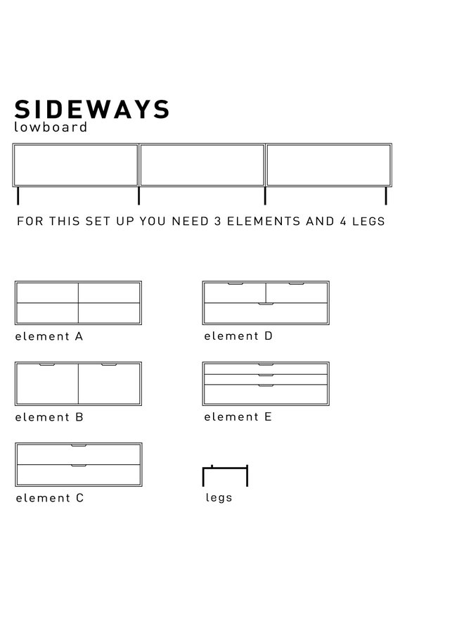 Kast modular cabinet, sand, shelving element a