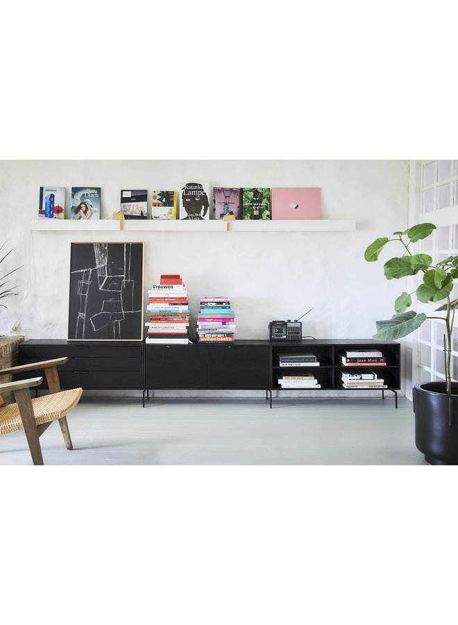 Kast modular cabinet, black, drawer element e